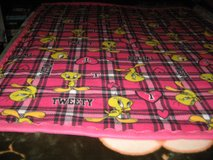 Handmade fleece Tweety blanket for a girl in Fort Bragg, North Carolina