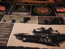Handmade army fleece blanket with tanks and only 1 in Fort Bragg, North Carolina